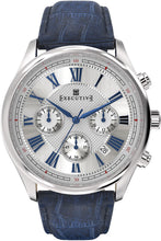 Laden Sie das Bild in den Galerie-Viewer, Executive Blazer Leather Watch - Gents Quartz Chronograph