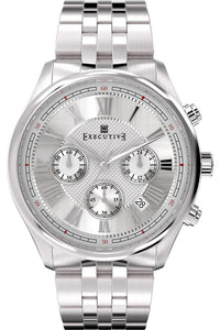Executive Blazer Leather Watch - Gents Quartz Chronograph