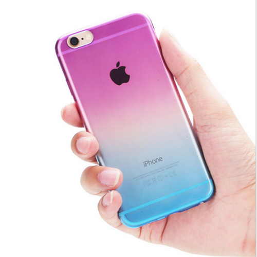 iPhone 6 & 6s case Transparent Gradient Color Silicon Covers