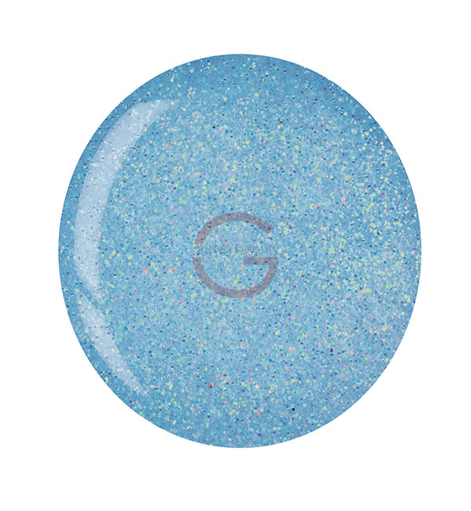 CUCCIO | POWDER POLISH DIP |  5562 BABY BLUE GLITTER | 1.6 OUNCES