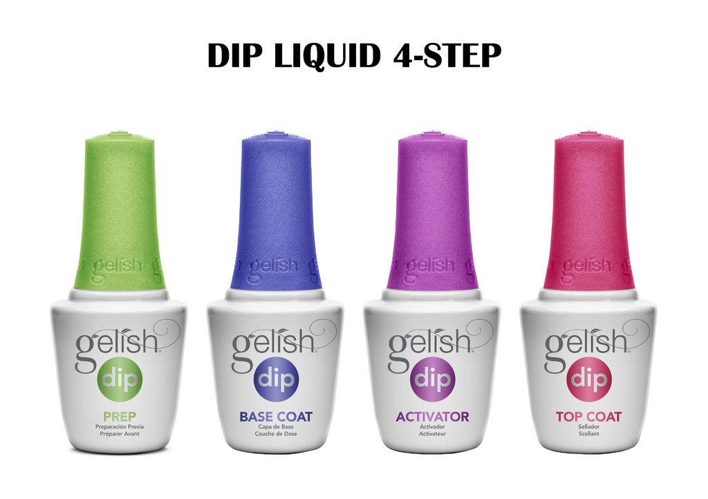 GELISH DIP LIQUID ESSENTIAL KIT 4-STEP LIQUID