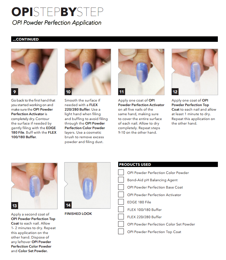 OPI PERFECT POWDER STARTER KIT V28 TIRAMISU FOR TWO