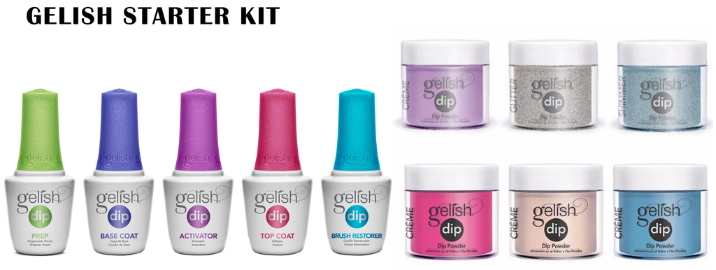 GELISH DIP POWDER STARTER KIT 1610085 MINT CHOCOLATE CHIP