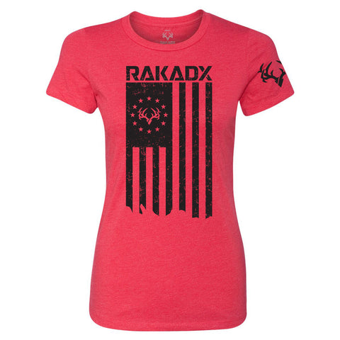 Ladies Rak N Flag Graphic T Shirt