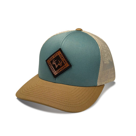 Delta Sky Blue Leather Patch Snapback