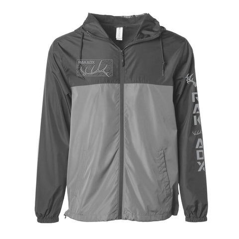 Unisex Elk Daggers Topo Windbreaker Jacket - Black/Grey