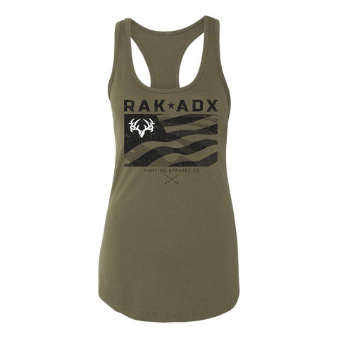 Ladies Rak N Flag 2.0 Racerback Graphic Tank