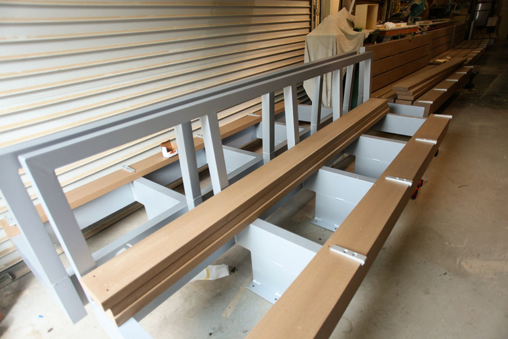 custom benches custom benches for roxbury community park beverly hills able