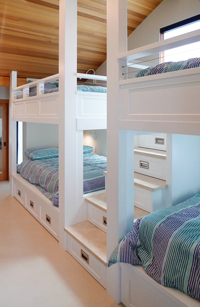 custom bunk bed with storage