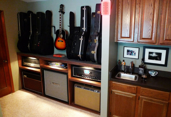 The Guitar Cabinet Frees Up Valuable Floor Space, Keeps Guitars Safe And  Within Reach.