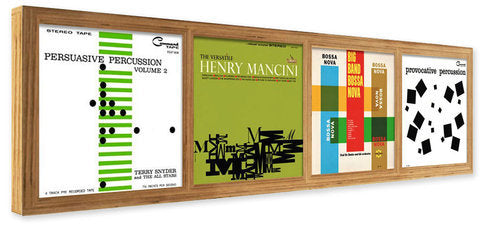 wood record frame to display and showcase LP record albums, eco friendly and hancrafted