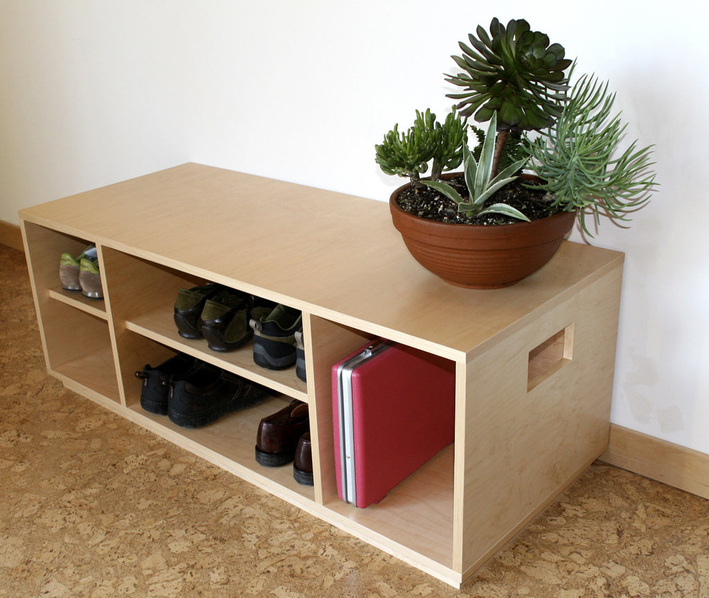Awesome Maple Storage Bench