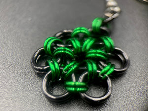 Black and Green Blossom Earrings