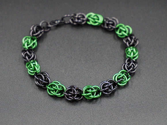 Black and Green Sweet Pea Bracelet