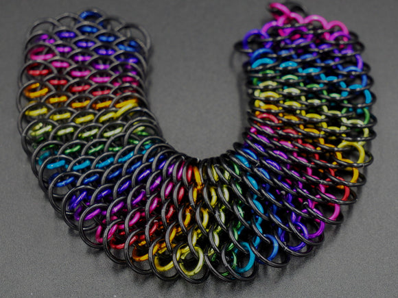 Black and Rainbow Dragonscale Necklace