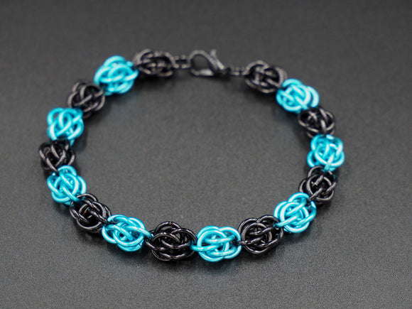 Black and Turquoise Sweet Pea Bracelet