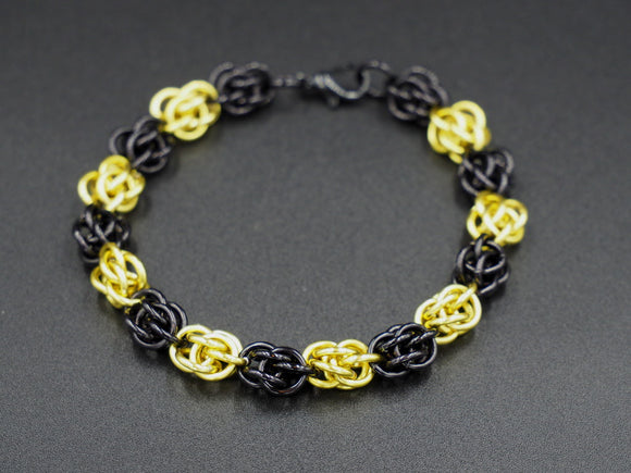 Black and Yellow Sweet Pea Bracelet