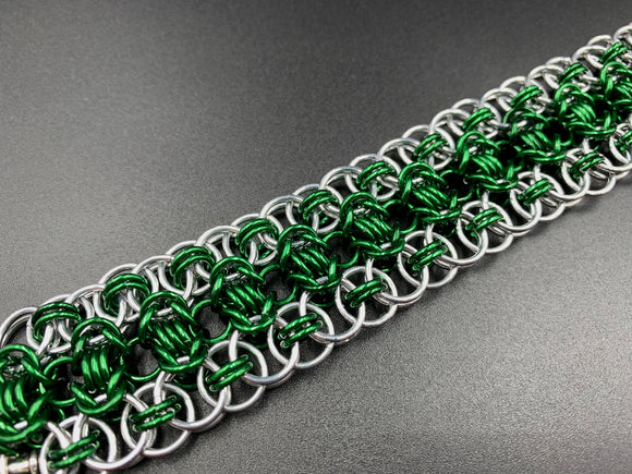Green and Silver Rondo Bracelet