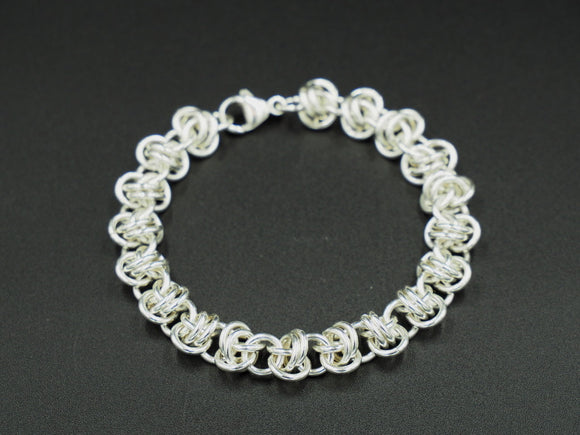 Sterling Silver Barrel Bracelet