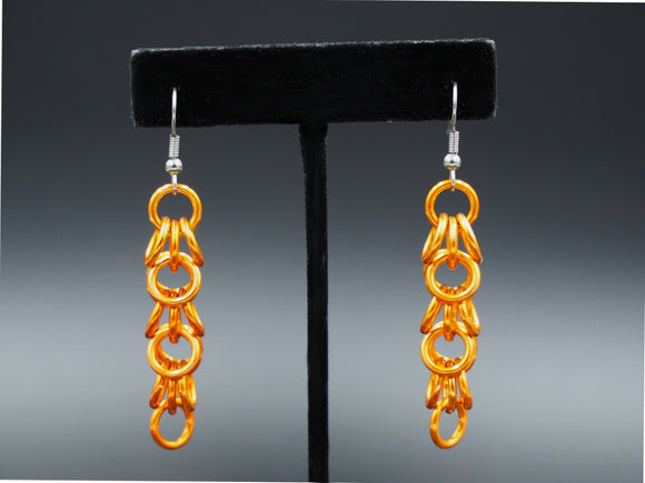 Orange Shaggy Loops Earrings