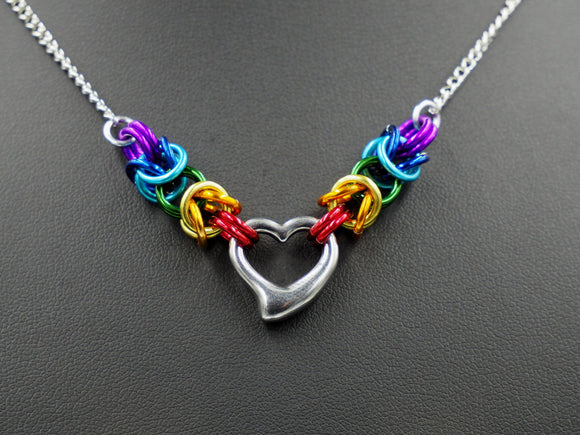 Custom Steel Heart Necklace