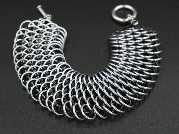 Silver and Black Dragonscale Bracelet
