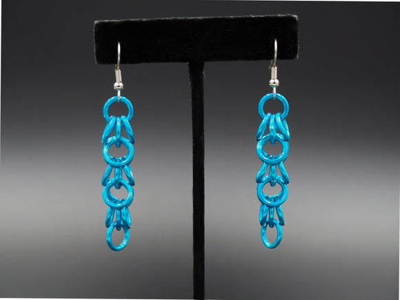 Turquoise Shaggy Loops Earrings