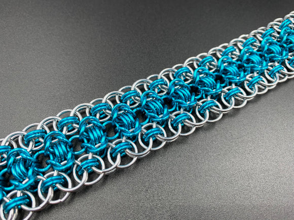 Turquoise and Silver Rond Bracelet