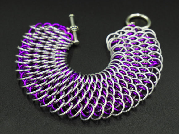 Violet and Silver Dragonscale Bracelet