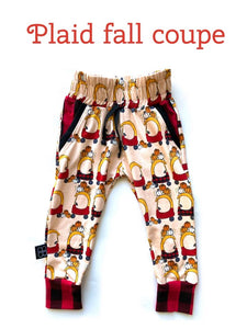 RTS PLAID FALL COUPE LUCAS JOGGERS - Baby Bums Clothing