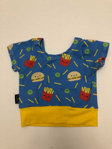 12/18 RTS FAST FOODIE CROP TOP - Baby Bums Clothing