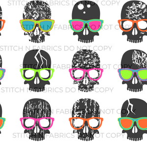 PREORDER NEON GLASSES SKULL - Baby Bums Clothing