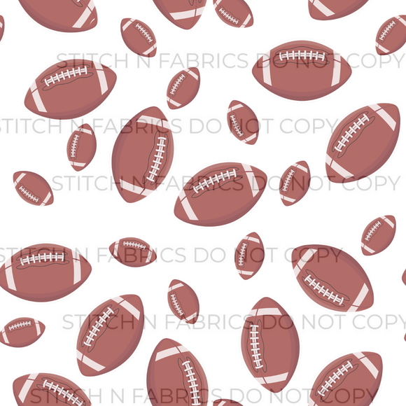 PREORDER FOOTBALLS ON WHITE - Baby Bums Clothing