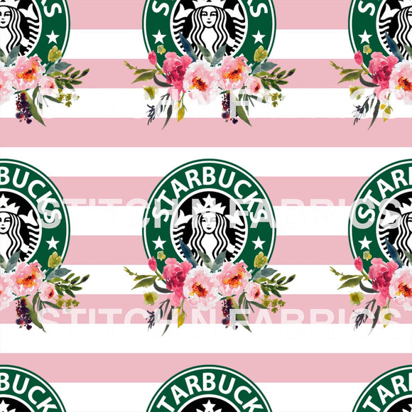 PRE-ORDER PINK FLOWER COFFEE LOGO - Baby Bums Clothing