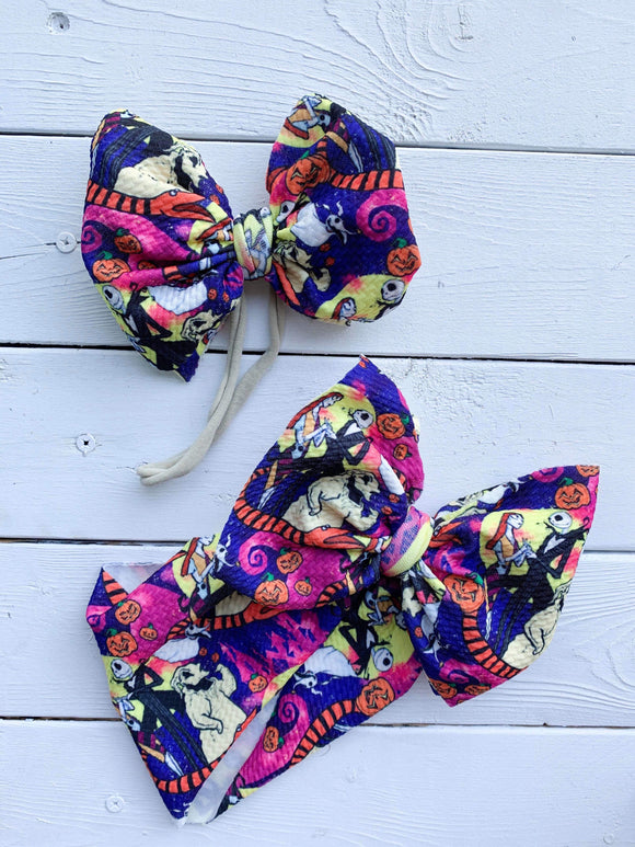 RTS COLORFUL NBC BOW - Baby Bums Clothing