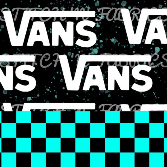 RTS TEAL CHECKERED VANS BLANKET - Baby Bums Clothing