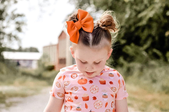RTS PUMPKIN BOW - Baby Bums Clothing