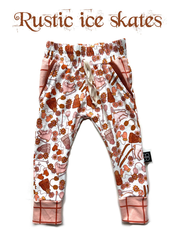 RTS RUSTIC ICE SKATES LUCAS JOGGERS - Baby Bums Clothing