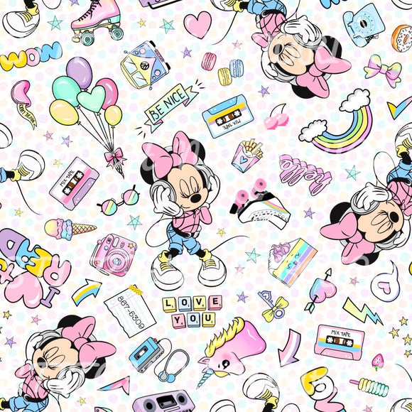 PRE-ORDER RETRO GIRL MOUSE DOTS - Baby Bums Clothing
