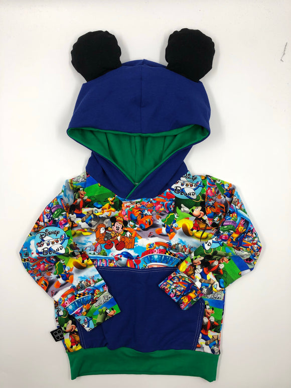MOUSE EARS ADD ON HOODIE - Baby Bums Clothing