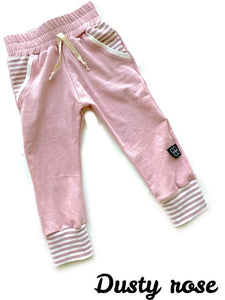 DUSTY ROSE LUCAS JOGGERS - Baby Bums Clothing