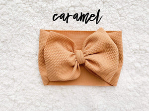 RTS CARAMEL BOW - Baby Bums Clothing