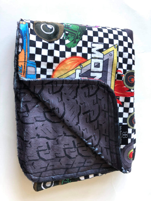 RTS MONSTER JAM/TIRE BLANKET BIG KID - Baby Bums Clothing