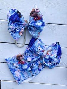 RTS ICE QUEEN BOW - Baby Bums Clothing