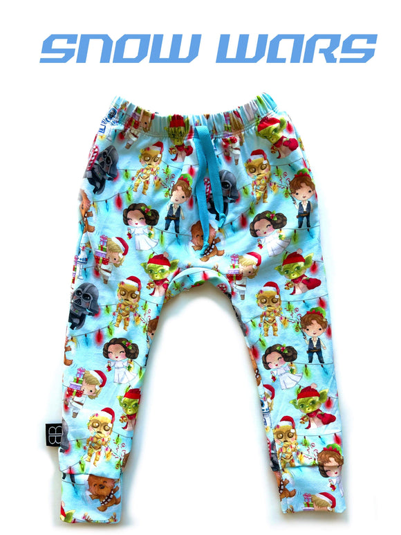 RTS SNOW WARS POCKET JOGGERS - Baby Bums Clothing
