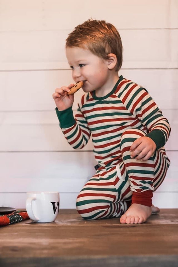 VINTAGE XMAS STRIPES LOUNGE SET - Baby Bums Clothing
