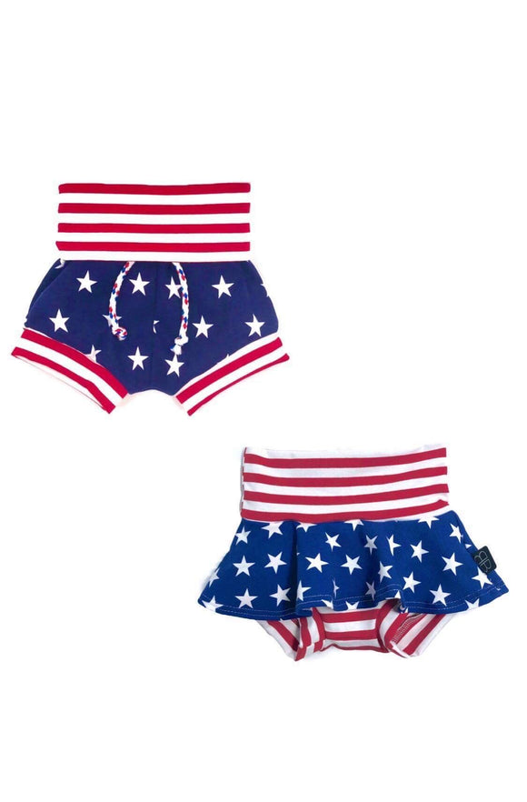 STARS & STRIPES (TWO FABRICS) - Baby Bums Clothing