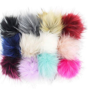 DETACHABLE FUR POMS - Baby Bums Clothing