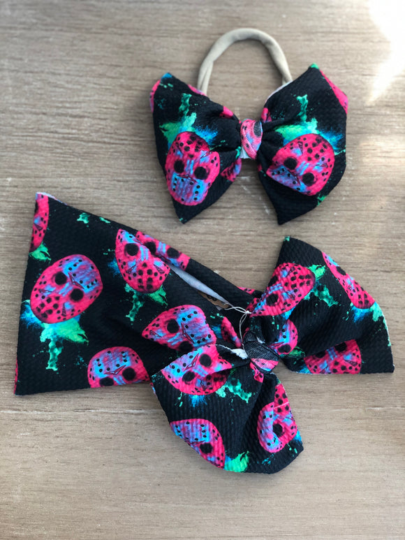 RTS NEON MASK BOW - Baby Bums Clothing