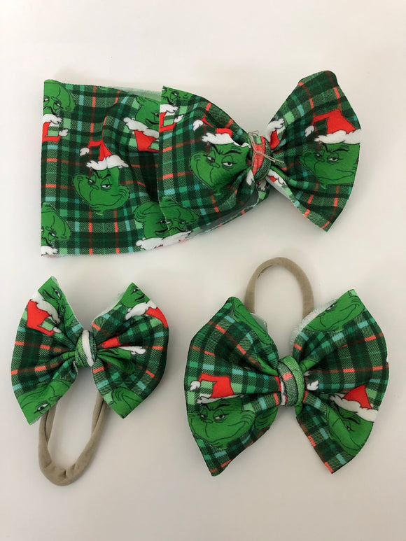 RTS FLANNEL MEAN ONE BOW - Baby Bums Clothing
